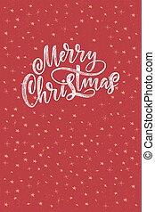decorativo, natal, decoração, desenhado, isolado, mão, experiência., vetorial, desenho, feliz, frase, trendy, cartazes, manuscrito, lettering., xmas, pretas