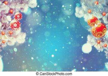 decorativo, navidad, abeto, ramas