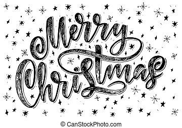 Decorativo Decoración Vector Navidad Aislado Mano