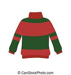 decorativo, navidad, feo, suéter, fiesta