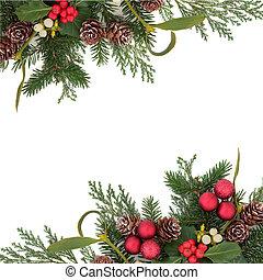 decorativo, navidad, frontera