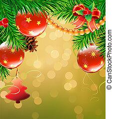 decorativo, navidad, plano de fondo