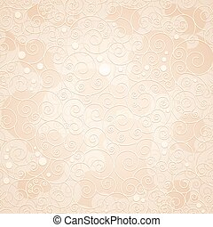 decorativo, ornamental, fondo beige