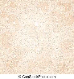 decorativo, ornamental, fondo beige