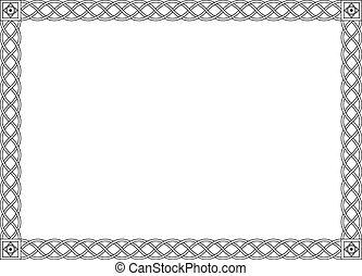 decorativo, ornamental, simples, quadro, pretas, gótico