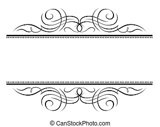 decorativo, ornamentale, cornice, vignette, calligrafia,...