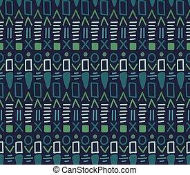 decorativo, ornamentale, modello, tribale, seamless, tessile, vector., etnico