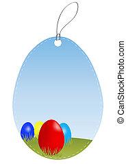 decorativo, ovo páscoa