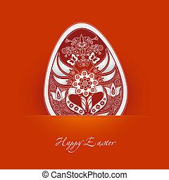decorativo, Páscoa, ovo