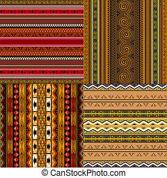 decorativo, padrões, africano