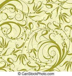 decorativo, patrón floral, vector