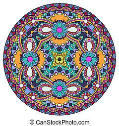 decorativo, patte, redondo, diseño, plato, geométrico, círculo, plantilla