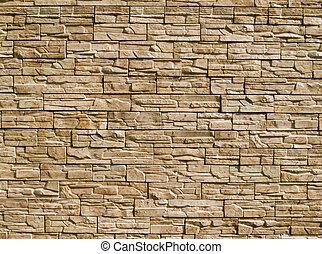 decorativo, pietre, parete