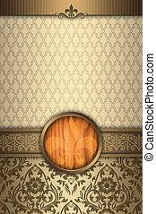decorativo, plano de fondo, con, elegante, fronteras, y, frame.