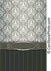 decorativo, plano de fondo, con, patrones, y, elegante, frame.