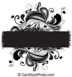 decorativo, plano de fondo, grunge, plantilla, ilustración