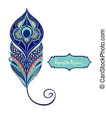 decorativo, pluma de pavo real