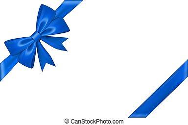decorativo, presente, desenho, fita cetim, cartão, branca, isolado, experiência., natal, feriado, frame., festivo, ilustração, aniversário, seda, dia, presente, valentine, decoration., bow., arco, vetorial, brilhante