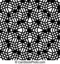 decorativo, pretas, motivo, textura