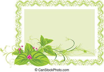decorativo, quadro, com, flores