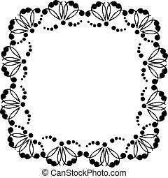 decorativo, quadro, com, padrões