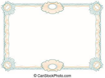 decorativo, quadro, rosettes, guilloche:, clássicas
