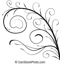 decorativo, ramo