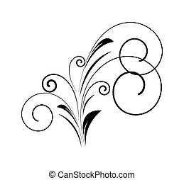 decorativo, redemoinho, floral