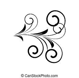 decorativo, redemoinho, forma