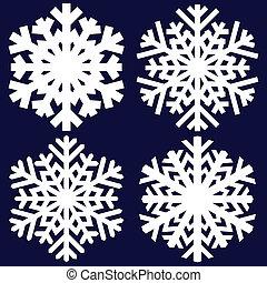 decorativo, resumen, snowflake.