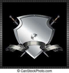 decorativo, shield.