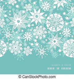 decorativo, silueta, patrón, marco, helada, navidad, vector,...