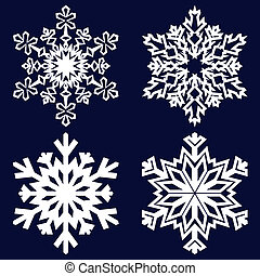 decorativo, snowflake., abstratos