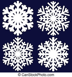 decorativo, snowflake., astratto