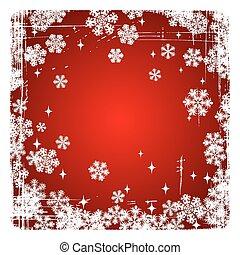 decorativo, snowflakes, feliz, vetorial, fundo, natal