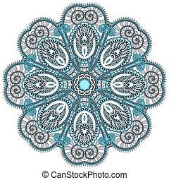 decorativo, spirituale, loto, simbolo, flusso, mandala, ...