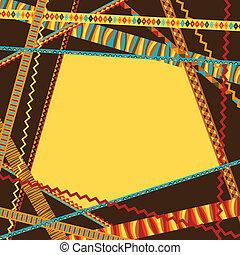 decorativo, strips., abstratos, fundo, étnico, geomã©´ricas