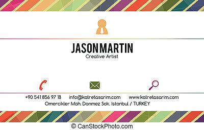 decorativo, tarjeta comercial