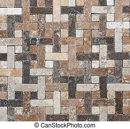 decorativo, tegole, naturale, geometria, astratto, struttura, marmo, mosaico