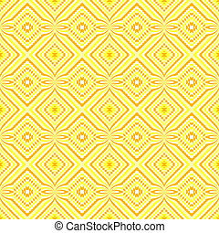 decorativo, tonos, amarillo, motivos, étnico
