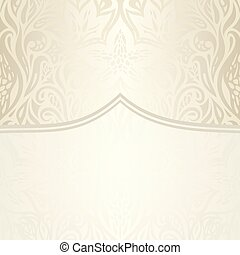 decorativo, vendemmia, ecru, fondo, matrimonio, floreale, pallido