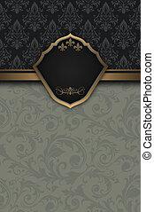 decorativo, vendimia, frame., plano de fondo, elegante