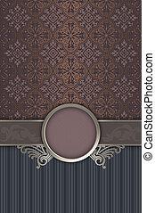 decorativo, vendimia, frame., plano de fondo