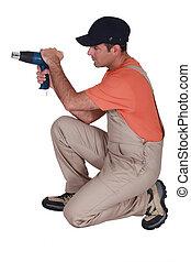 Decorator with a heat gun
