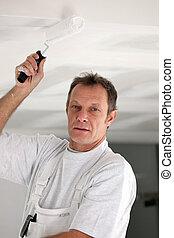 decoratore, pittura, soffitto