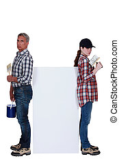 Decorators with a blank board