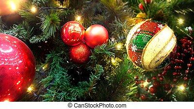 decorazione albero natale, fondo