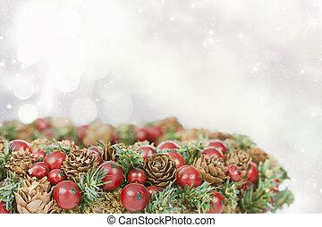 decorazione albero natale, -, natale, fondo