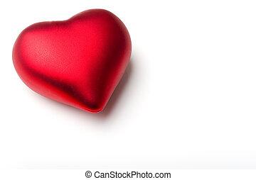 decorazione, cuore, emotivo, amore, simbolo, regalo, per, valentine\'s, giorno, presente, isolato