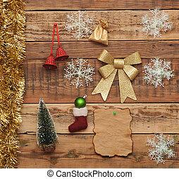 decorazione, legno, natale